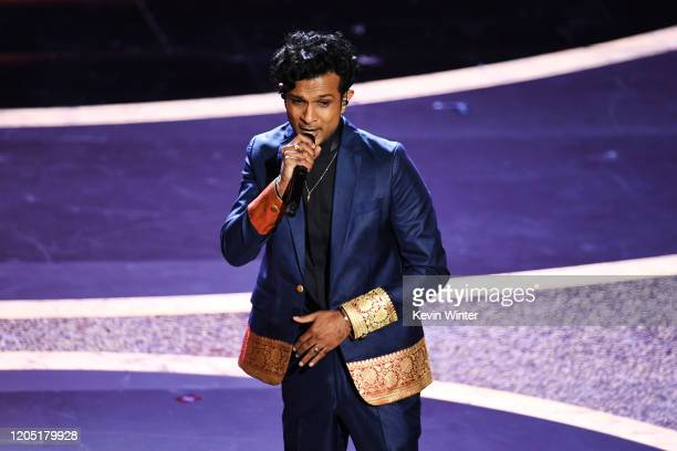Utkarsh Ambudkar performs onstage during the 92nd Annual Academy Awards at Dolby Theatre on February 09 2020 in Hollywood California