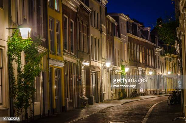 utrecht by night - dusk stock pictures, royalty-free photos & images