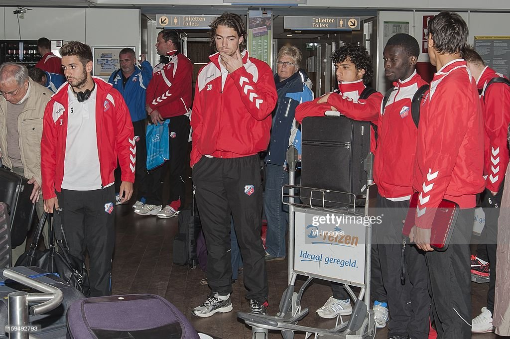 FC Utrecht returns to Holland during the training camp of FC Utrecht on January 11, 2013 at Almancil, Portugal.