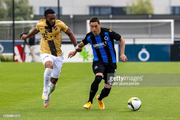 Utrecht's Moussa Sylla and Club's Federico Ricca fight for the ball during a friendly soccer game between Belgian team Club Brugge KV and Dutch FC...