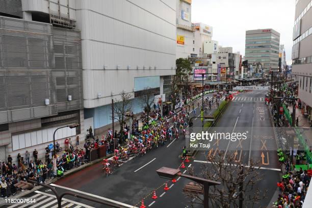 Utsunomiya City / Peloton / Fans / Public / Landscape / during the 28th Japan Cup 2019 - Criterium a 38,2km race from Utsunomiya to Utsunomiya /...