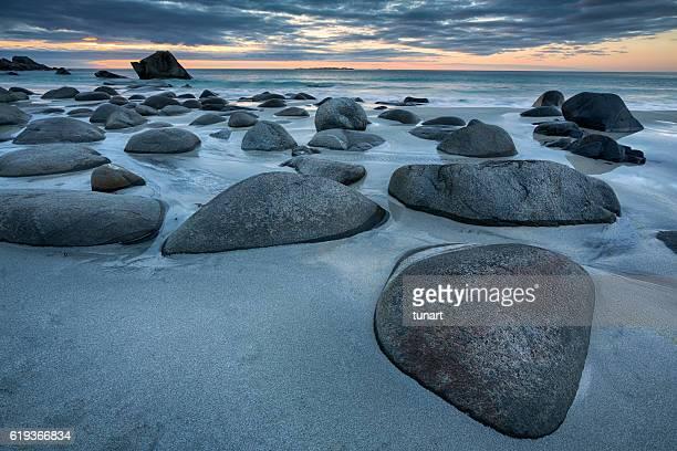 Uttakleiv Beach, Evening Mood, Lofoten, Norway