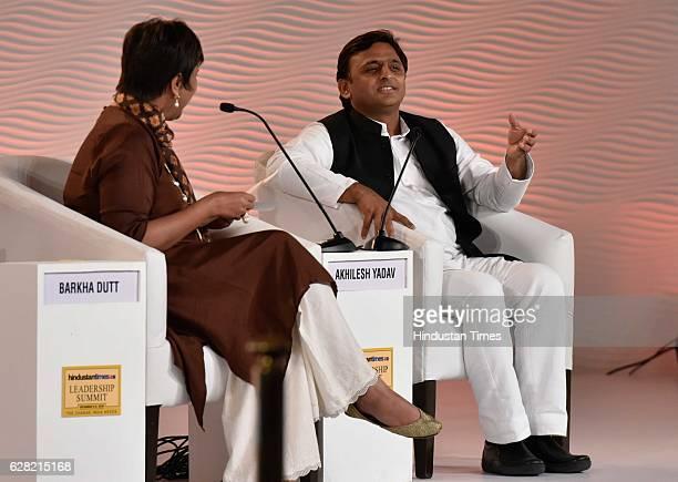 Uttar Pradesh Chief Minister Akhilesh Yadav in conversation with Barkha Dutt Consulting Editor NDTV during the Hindustan Times Leadership Summit 2016...