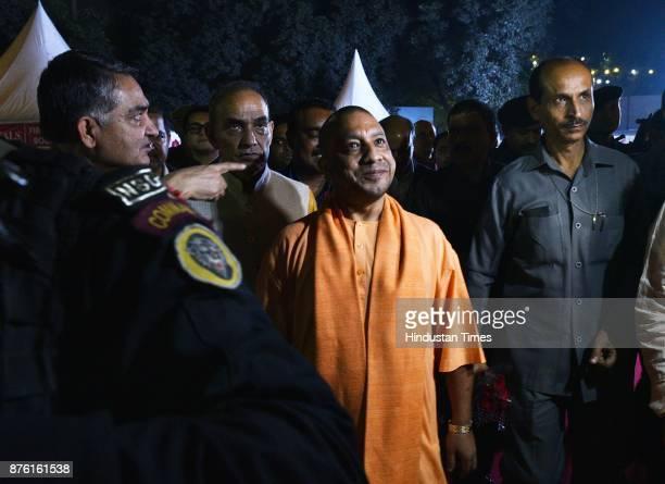Uttar Pradesh Chief Minister Yogi Adityanath visits at UP Pavilion in the ongoing India International Trade Fair at Pragati Maidan on November 18...