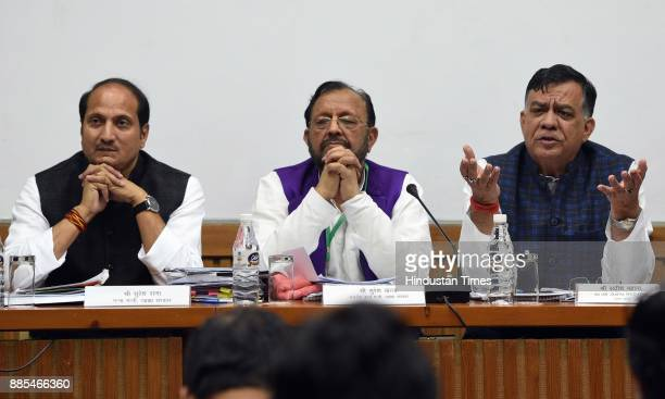 Uttar Pradesh Ministers Suresh Rana Minister for Sugar Cane Suresh Khanna Minister for Parliamentary Affairs and Satish Mahana Minister for...
