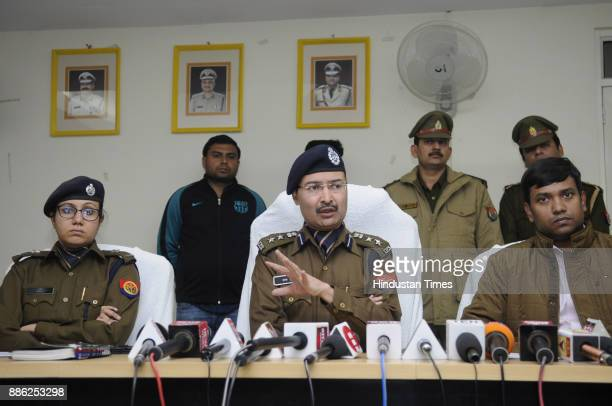 Uttar Pradesh Police's Special Task Force arrested three persons from Noida in connection with the killing of a BJP leader his driver and private...