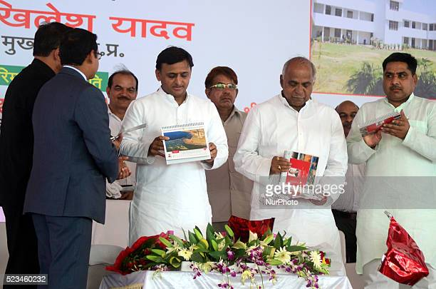 Uttar Pradesh's Chief Minister Akhilesh Yadav inauguates the haritage calander of Allahabad pictured by A well known Photojournalish Rajesh Kumar...