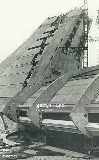 Uue finish Pilon at Montreal Olympic Stadium wich Originally was to be retracted roof for Stadium [Incomplete]
