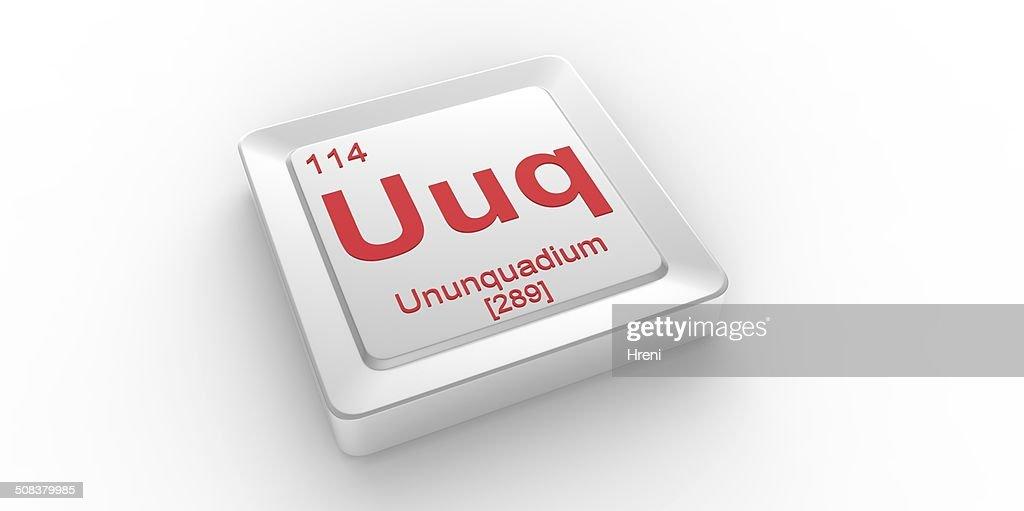 uuq symbol 114 material for ununquadium chemical element stock photo - Periodic Table Symbol Ununquadium