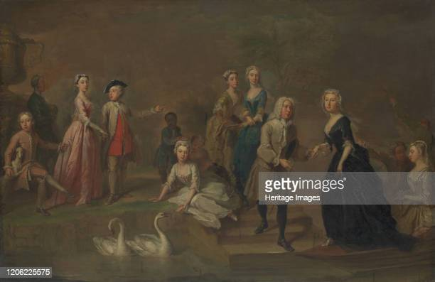 Uvedale Tomkyns Price and Members of His Family, possibly early 1730s. Artist Bartholomew Dandridge.