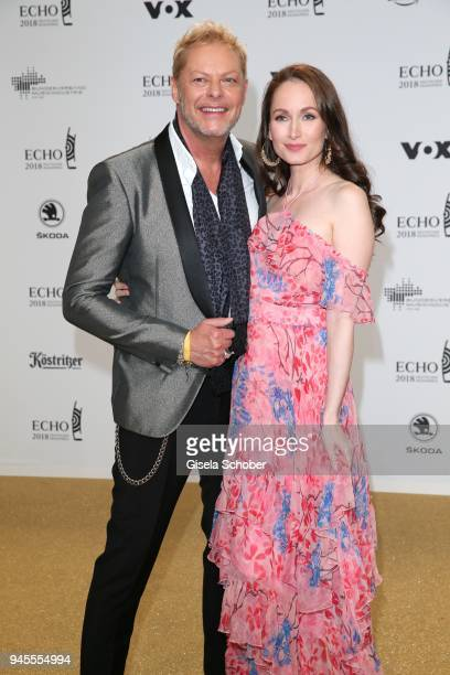 Uwe FahrenkrogPetersen and Christin Dechant arrive for the Echo Award at Messe Berlin on April 12 2018 in Berlin Germany