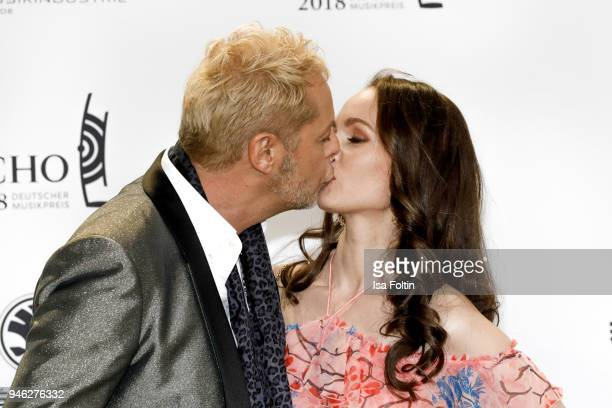 Uwe FahrenkrogPetersen and his girlfriend Christin Dechant arrive for the Echo Award at Messe Berlin on April 12 2018 in Berlin Germany