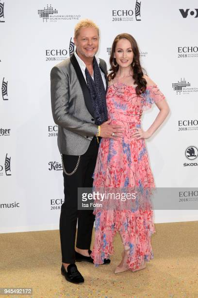 Uwe FahrenkrogPetersen and his girlfriend Christin Dechant arrives for the Echo Award at Messe Berlin on April 12 2018 in Berlin Germany