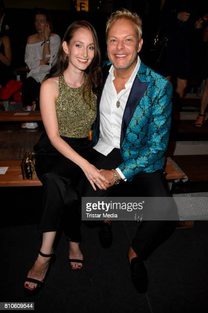 Uwe FahrenkrogPetersen and his partner Christin Dechant attend the MICHALSKY StyleNite during the MercedesBenz Fashion Week Berlin Spring/Summer 2018...