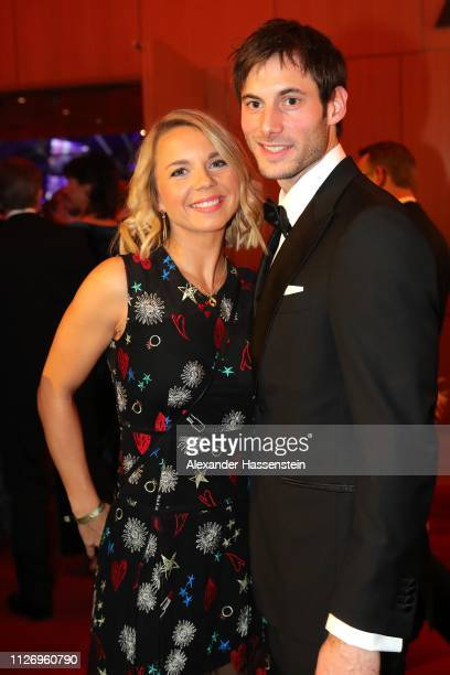 Uwe Gensheimer attends with his wife Alexandra Gensheimer the Ball des Sports 2019 at RheinMainCongressCenter on February 02 2019 in Wiesbaden Germany