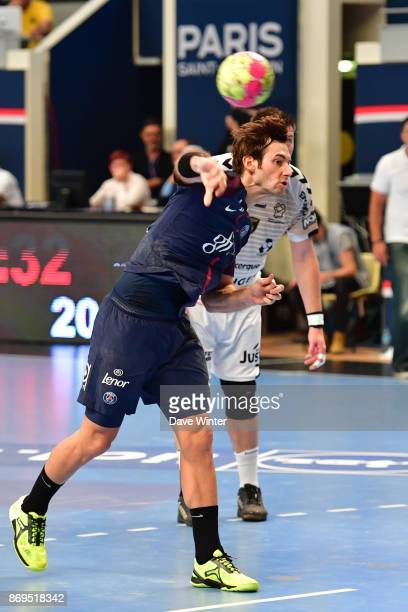 Uwe Gensheimer of PSG during the Lidl Star Ligue match between Paris Saint Germain and Dunkerque at Salle Pierre Coubertin on November 2 2017 in...