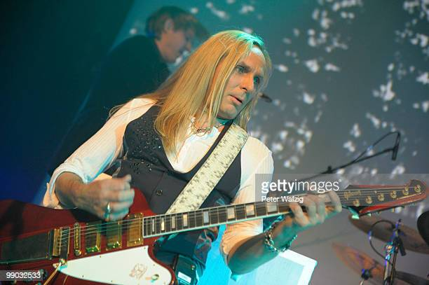 Uwe Hassbecker of Silly performs on stage at the Gloria on May 11 2010 in Cologne Germany
