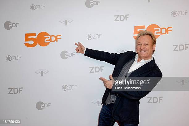 Uwe Huebner poses on March 27, 2013 after a taping of one of the segments of the television program '50 Jahre ZDF' in Berlin, Germany. The television...