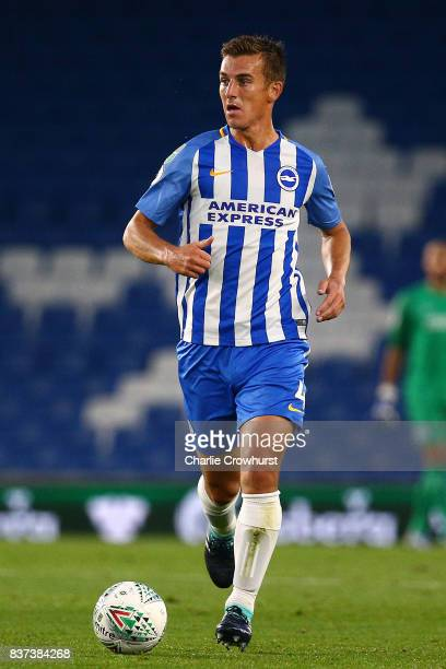 Uwe Huenemeier of Brighton in action during the Carabao Cup Second Round match between Brighton Hove Albion and Barnet at Amex Stadium on August 22...