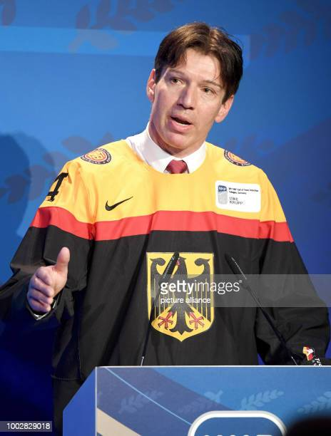 Uwe Krupp former ice hockey player for Germany and former coach of the German ice hockey squad speaks in Cologne Germany 21 May 2017 Krupp was...
