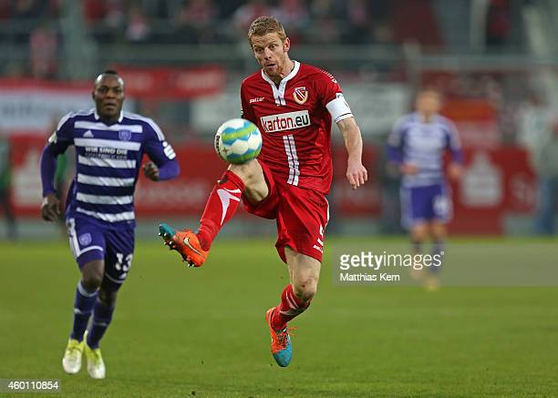 Uwe Moehrle of Cottbus runs with the ball during the third league match between FC Energie Cottbus and VFL Osnabrueck at Stadion der Freundschaft on...