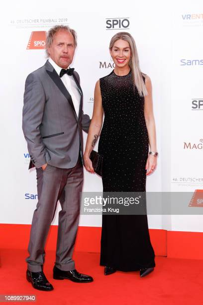 Uwe Ochenknecht and his partner Kiki Viebrock during the 46th German Film Ball at Hotel Bayerischer Hof on January 26 2019 in Munich Germany
