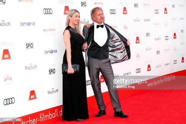 Uwe Ochenknecht and his partner Kiki Viebrock during the 46th German Film Ball at Hotel Bayerischer Hof on January 26, 2019 in Munich, Germany.