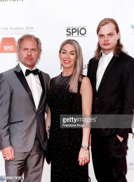 Uwe Ochenknecht with his partner Kiki Viebrock and his son Wilson Gonzalez Ochsenkecht during the 46th German Film Ball at Hotel Bayerischer Hof on...