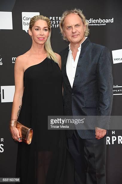 Uwe Ochsenknecht and his girlfriend Kirsten Kiki Viebrock attend the Deutscher Schauspielerpreis 2016 on May 20 2016 in Berlin Germany