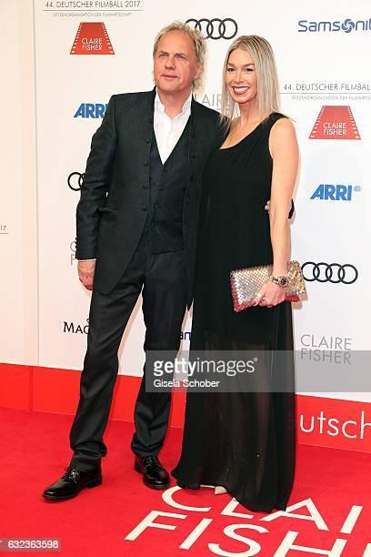 Uwe Ochsenknecht and his girlfriend Kirsten Kiki Viebrock during the 44th German Film Ball 2017 arrival at Hotel Bayerischer Hof on January 21 2017...