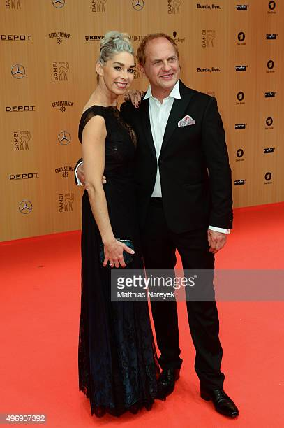 Uwe Ochsenknecht and Kiki Viebrock attend the Bambi Awards 2015 at Stage Theater on November 12, 2015 in Berlin, Germany.