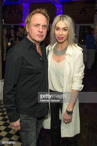 Uwe Ochsenknecht and Kiki Viebrock attend the EIS! party at Soho house on January 28, 2016 in Berlin, Germany.