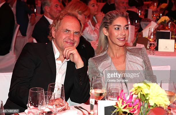 Uwe Ochsenknecht and Kiki Viebrock attend the Monti Memorial Charity Gala at Hotel Vier Jahreszeiten on October 18, 2014 in Munich, Germany.