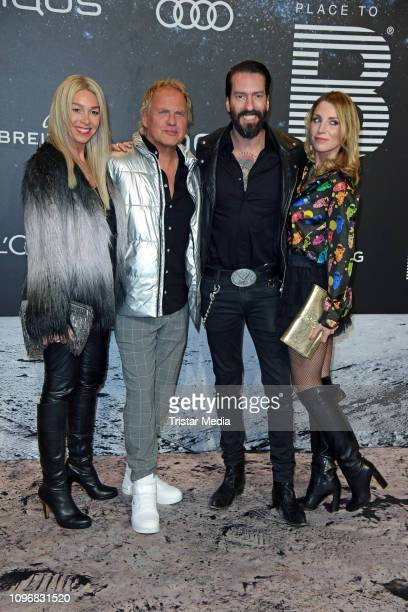 Uwe Ochsenknecht, his wife Kirsten Kiki Viebrock and Alec Voelkel of the band The BossHoss and his wife Johanna Michels attend the PLACE TO B...