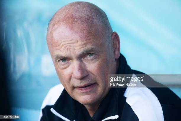 Uwe Rosler head coach of Malmo FF during the Allsvenskan match between Malmo FF and Ostersunds FK at Malmo Stadion on July 14 2018 in Malmo Sweden