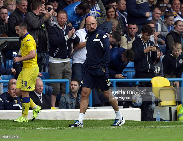 Uwe Rosler manager of Leeds United during the Pre Season Friendly match between Leeds United and Everton at Elland Road on August 1 2015 in Leeds...