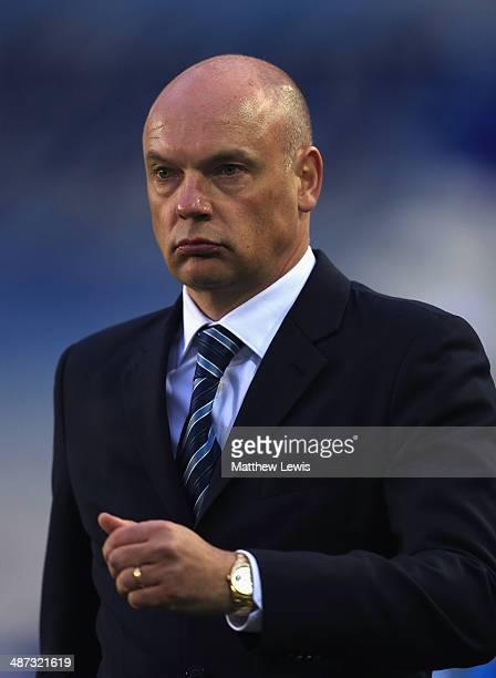 Uwe Rosler manager of Wigan Athletic looks on during the Sky Bet Championship match between Birmingham City and Wigan Athletic at St Andrews Stadium...