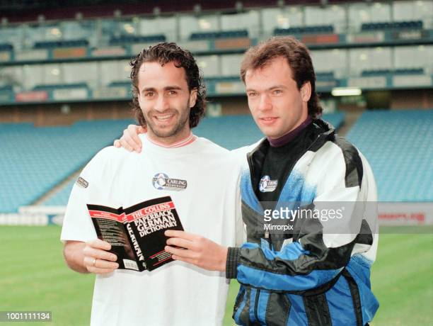Uwe Rosler & Maurizio Gaudino, Manchester City football players, German signings, photocall at Maine Road, Thursday 9th February 1995.