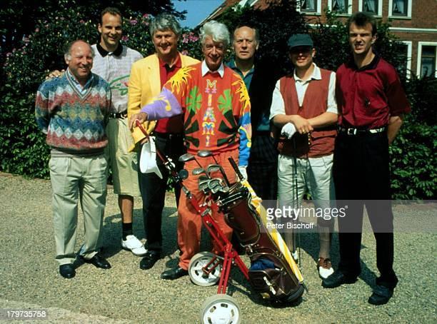 Uwe Seeler Oliver Reck Max Lorenz Rudi Carrell Willi Holdorf Uli Borowka Manfred Bockenfeld Eröffnungsturnier GolfClub Syke Bremen/Deutschland...