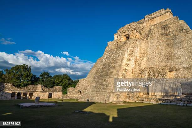 Uxmal Pyramid, an ancient mayan ruin in Mexico
