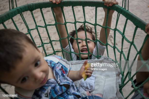Uyghur kids seen playing during the afternoon in the Kashgar old Town, northwestern Xinjiang Uyghur Autonomous Region in China. Kashgar is located in...