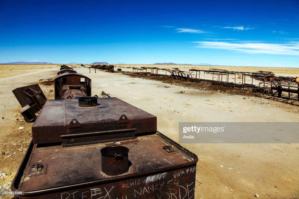 Uyuni, the train graveyard. : News Photo