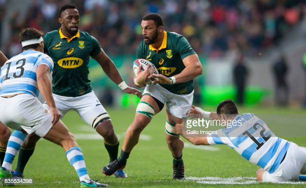 Uzair Cassiem of the Springbok Team during the Rugby Championship match between South Africa and Argentina at Nelson Mandela Bay Stadium on August 19...