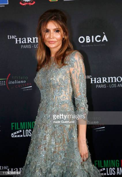 Uzbek diplomat and philanthropist Lola KarimovaTillyaeva attends the Filming in Italy event at Italian Cultural Institute Of Los Angeles on January...