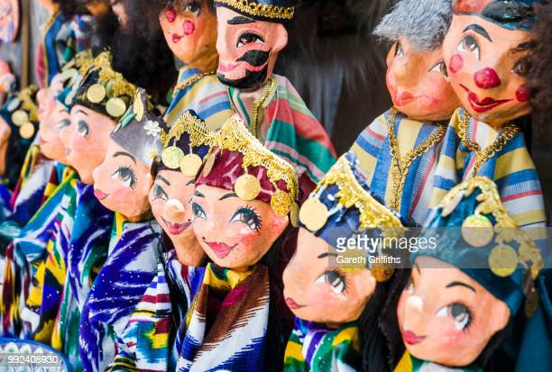 uzbek dolls - muziek stock pictures, royalty-free photos & images