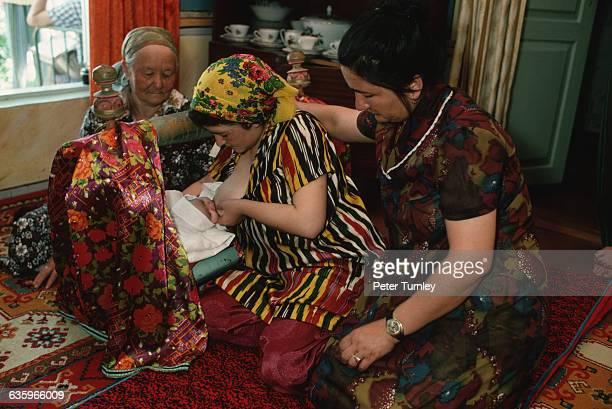 Uzbek Mother and Newborn