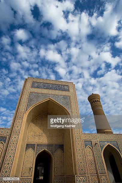 Uzbekistan Bukhara Kalon Mosque Kalon Minaret In Background