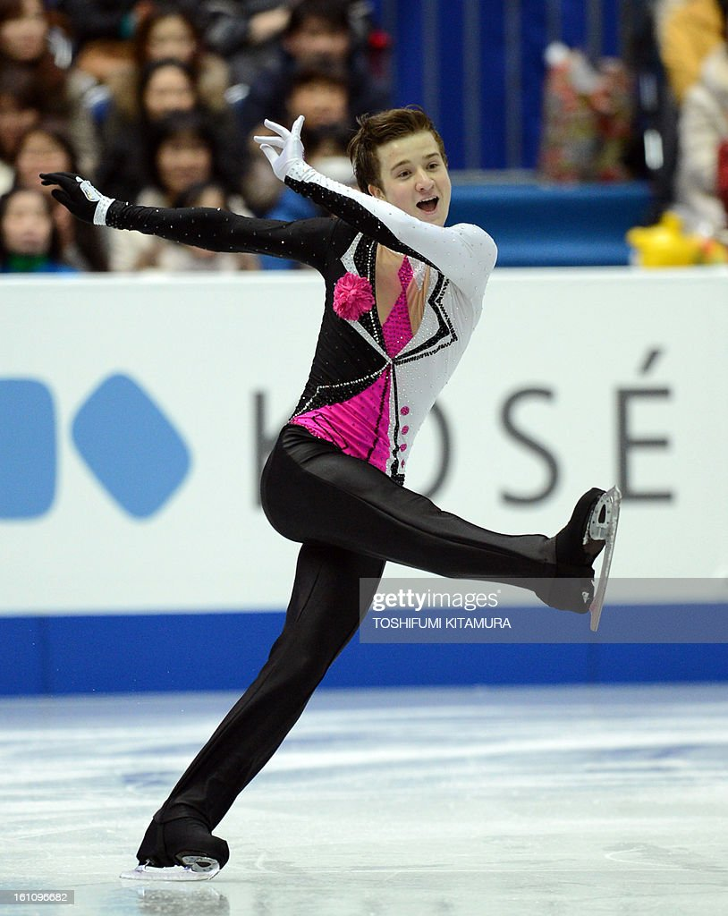 Uzbekistan's Misha Ge performs his free skating in the men's event during the Four Continents figure skating championships in Osaka on February 9, 2013.