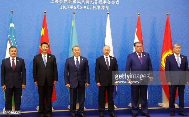 Uzbekistan's President Shavkat Mirziyoyev China's President Xi Jinping Kazakhstan's President Nursultan Nazarbayev Russia's President Vladimir Putin...