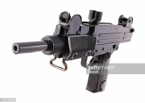 uzi israeli assault weapon - machine gun stock pictures, royalty-free photos & images